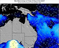 Queensland wave energy surf 12 hr forecast