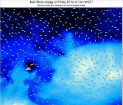 American Samoa wave energy surf 12 hr forecast