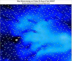 Samoa wave energy surf 12 hr forecast