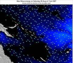 Solomon Islands wave energy surf 12 hr forecast