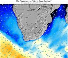 South Africa wave energy surf 12 hr forecast