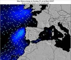 Spain wave energy surf 12 hr forecast