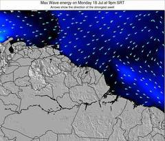 French Guiana wave energy surf 12 hr forecast