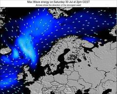 Norway wave energy surf 12 hr forecast