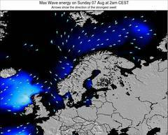 Sweden wave energy surf 12 hr forecast