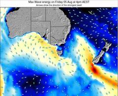 Tasmania wave energy surf 12 hr forecast