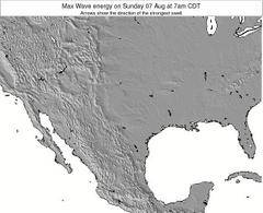 Texas wave energy surf 12 hr forecast