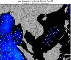 Thailand wave energy surf 12 hr forecast