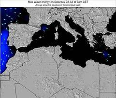 Algeria wave energy surf 12 hr forecast