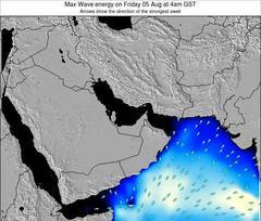 United Arab Emirates wave energy surf 12 hr forecast