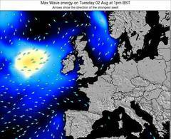 Faroe Islands wave energy surf 12 hr forecast
