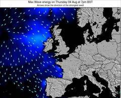 Ireland wave energy surf 12 hr forecast