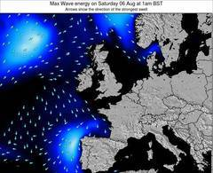 United Kingdom wave energy surf 12 hr forecast