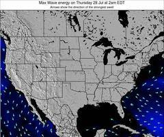 United States wave energy surf 12 hr forecast