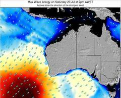 Western-Australia wave energy surf 12 hr forecast