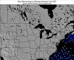Michigan wave energy surf 12 hr forecast