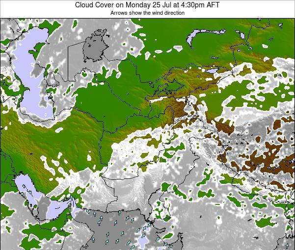 Afghanistan Cloud Cover on Sunday 19 May at 4:30pm AFT map