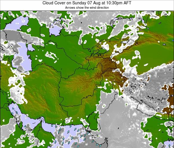 Afghanistan Cloud Cover on Friday 24 May at 4:30am AFT map