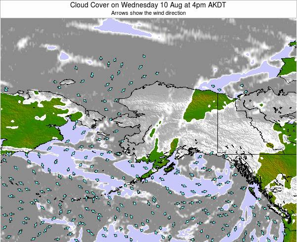 Alaska United States Cloud Cover on Thursday 30 May at 10pm AKDT