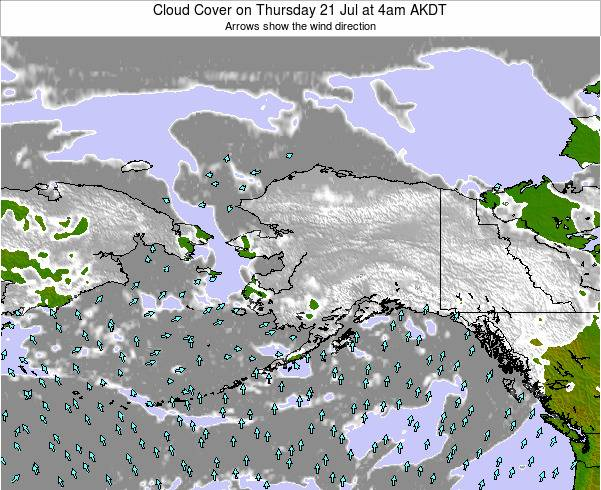 Alaska United States Cloud Cover on Thursday 30 May at 10am AKDT