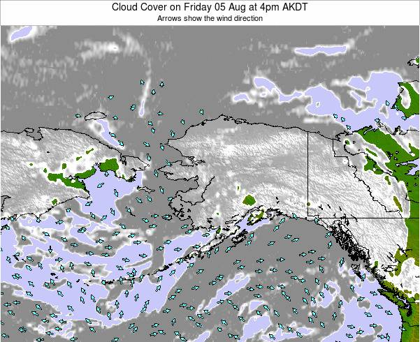 Alaska United States Cloud Cover on Sunday 19 May at 4am AKDT