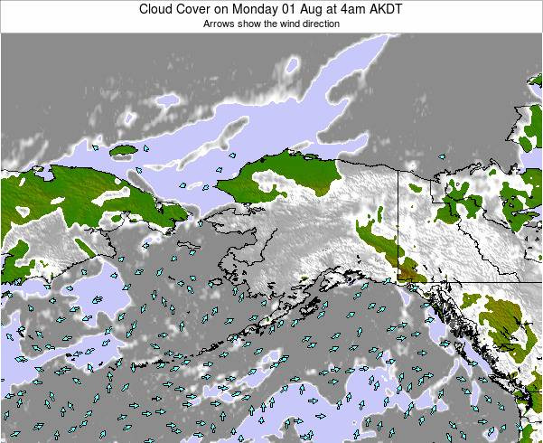 Alaska United States Cloud Cover on Friday 24 May at 10am AKDT