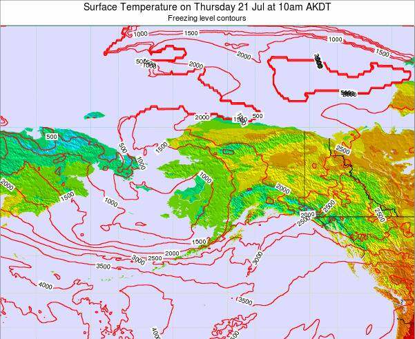 Alaska United States Surface Temperature on Thursday 23 May at 4pm AKDT