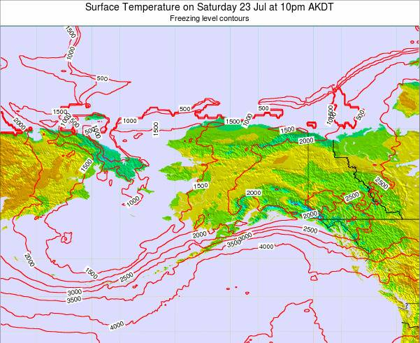 Alaska United States Surface Temperature on Sunday 26 May at 10am AKDT