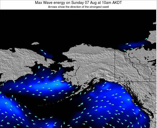 Alaska United States Max Wave energy on Friday 24 May at 4pm AKDT