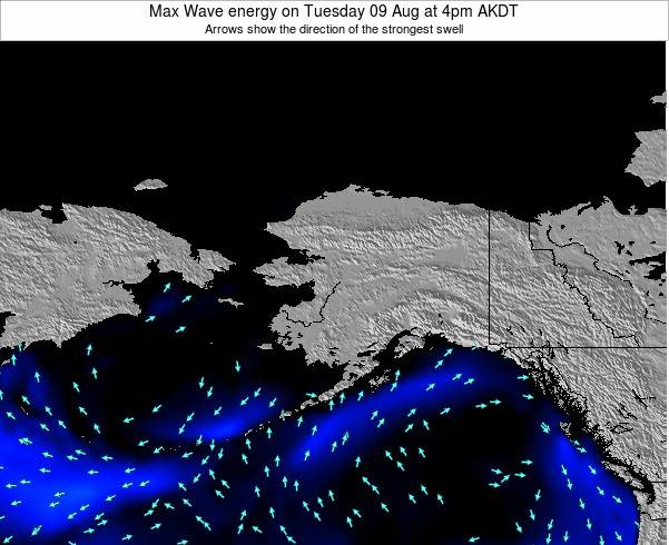 Alaska United States Max Wave energy on Saturday 25 May at 4pm AKDT