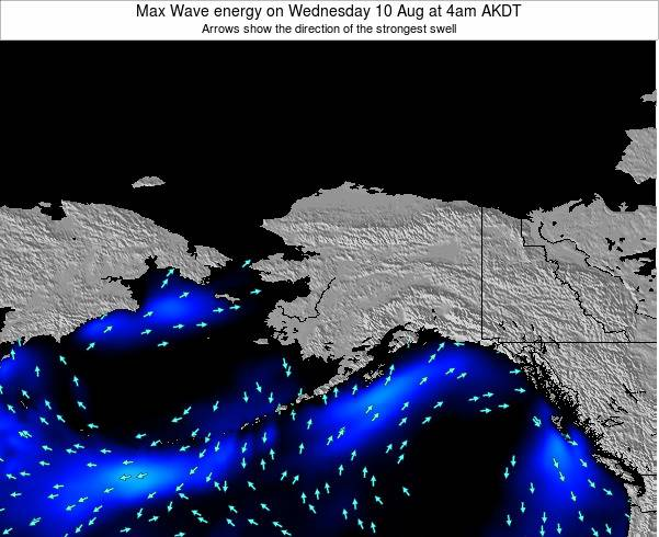 Alaska United States Max Wave energy on Monday 27 May at 4am AKDT