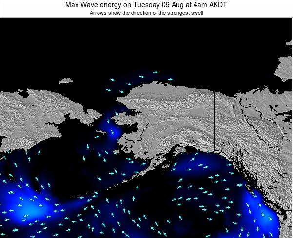 Alaska United States Max Wave energy on Friday 21 Jun at 4pm AKDT