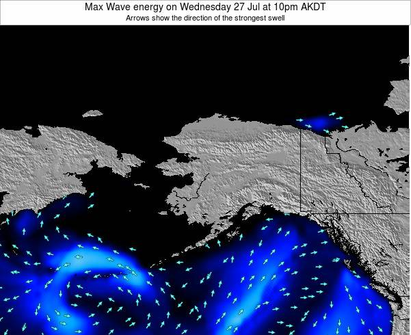 Alaska United States Max Wave energy on Friday 24 May at 10am AKDT