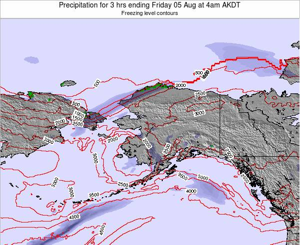 Alaska United States Precipitation for 3 hrs ending Saturday 14 Dec at 9am AKST