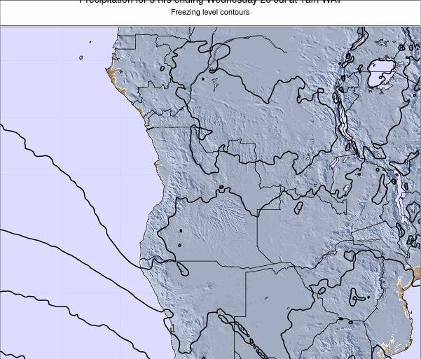 Angola Precipitation for 3 hrs ending Saturday 14 Dec at 7am WAT