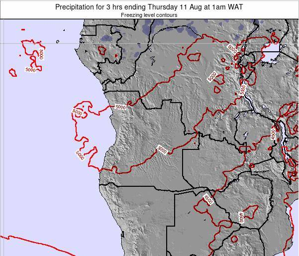 Angola Precipitation for 3 hrs ending Tuesday 28 May at 1pm WAT