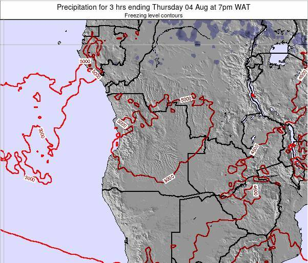 Angola Precipitation for 3 hrs ending Saturday 26 Jul at 1pm WAT