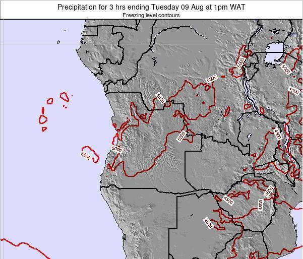 Angola Precipitation for 3 hrs ending Sunday 24 Aug at 1am WAT