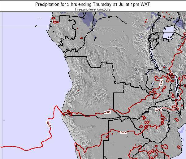 Angola Precipitation for 3 hrs ending Monday 28 Apr at 1am WAT