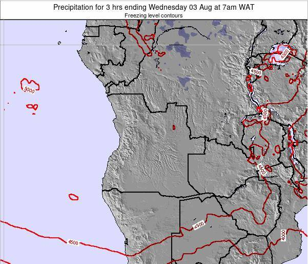 Angola Precipitation for 3 hrs ending Wednesday 04 Feb at 1am WAT