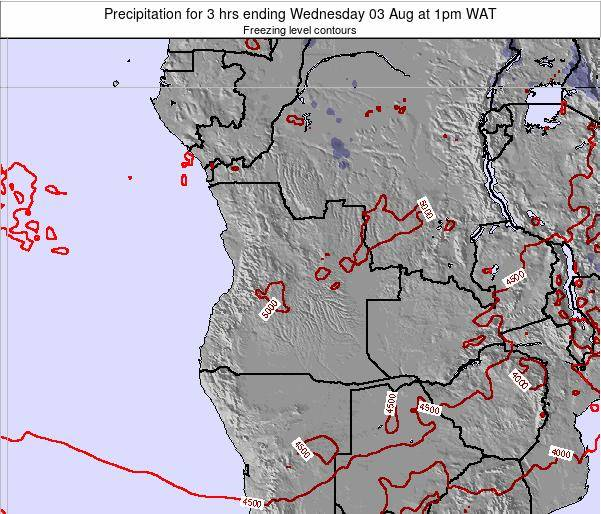 Angola Precipitation for 3 hrs ending Wednesday 23 Apr at 1am WAT