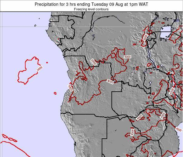Angola Precipitation for 3 hrs ending Monday 21 Apr at 1am WAT
