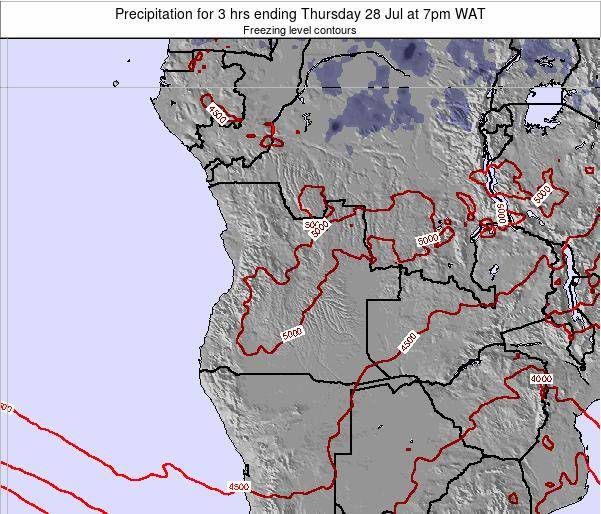 Angola Precipitation for 3 hrs ending Friday 06 Mar at 1am WAT
