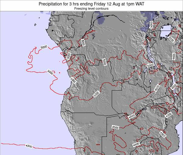 Angola Precipitation for 3 hrs ending Friday 05 Sep at 1pm WAT