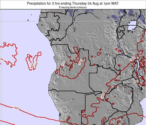 Angola Precipitation for 3 hrs ending Wednesday 12 Mar at 1pm WAT