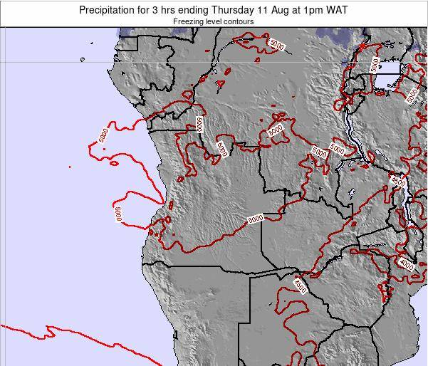 Angola Precipitation for 3 hrs ending Thursday 23 Nov at 7am WAT map