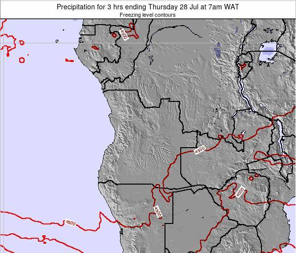 Angola Precipitation for 3 hrs ending Sunday 16 Mar at 7pm WAT