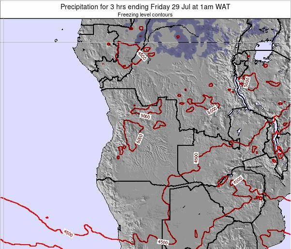 Angola Precipitation for 3 hrs ending Tuesday 01 Nov at 1pm WAT