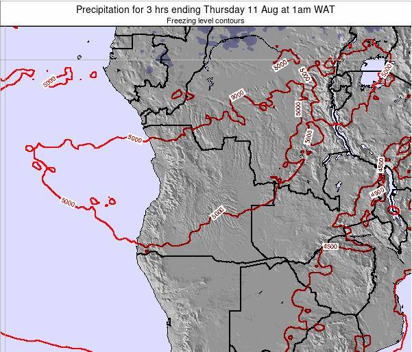 Angola Precipitation for 3 hrs ending Tuesday 10 Dec at 1am WAT