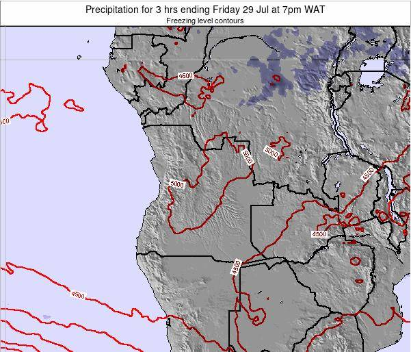 Angola Precipitation for 3 hrs ending Sunday 27 Jul at 7pm WAT